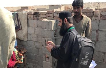 Aga Khan University conducts door-to-door surveillance in the midst of the outbreak