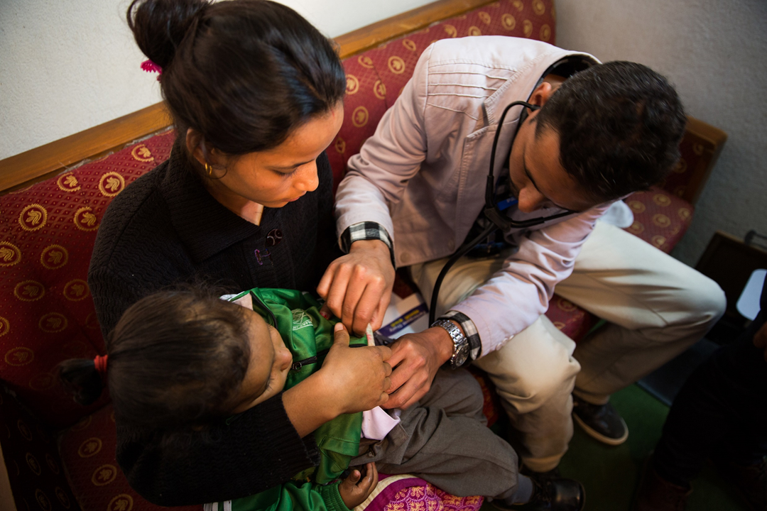 Participants all receive access to a doctor and a free blood test if they have a fever for more than two days. This service is available at several community clinics and a hospital-based clinic in Lalitpur District.
