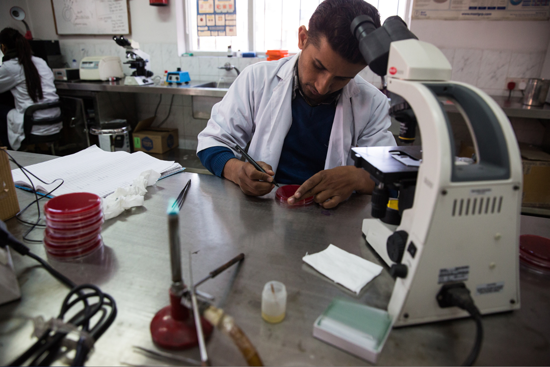 Blood samples from study participants are all initially processed at the Patan Hospital Laboratory. Some samples are sent to laboratories outside of Nepal for analysis when it cannot be done locally.