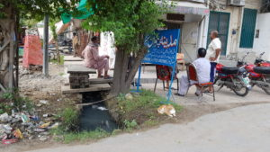 Open drains like this one carry diseases like typhoid.