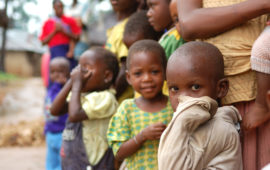 Children in the African region, such as these children in Kenya, have a lot to gain from typhoid conjugate vaccine introduction.