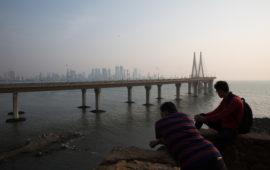 Bandra-Worli Sea link of Mumbai which links the Western suburbs of the city with Worli in south Mumbai.
