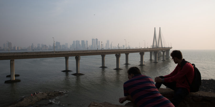 Bandra-Worli Sea link of Mumbai which links the Western suburbs of the city with Worli in south Mumbai.