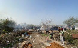Informal settlement in Chandigarh, India
