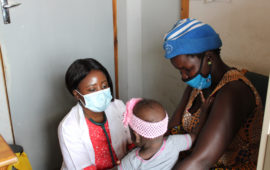 Dr. Nampota, the 2021 Rising Star recipient, in the clinic in Malawi